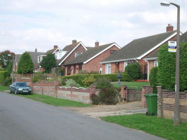 Bus stop in Hargham Road, Attleborough