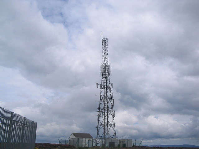 NGW Television & Radio Tower. Summit of Camlough Mountain.