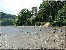 SX1156 : St Winnow Church & the Fowey at Low Tide by Nigel Homer