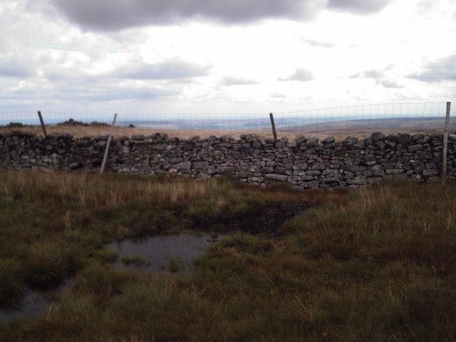 Pond on broad ridge between Little Whernside and Great Whernside