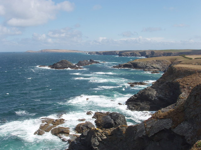 Coast outside Porth Mear, with Trescore Islands