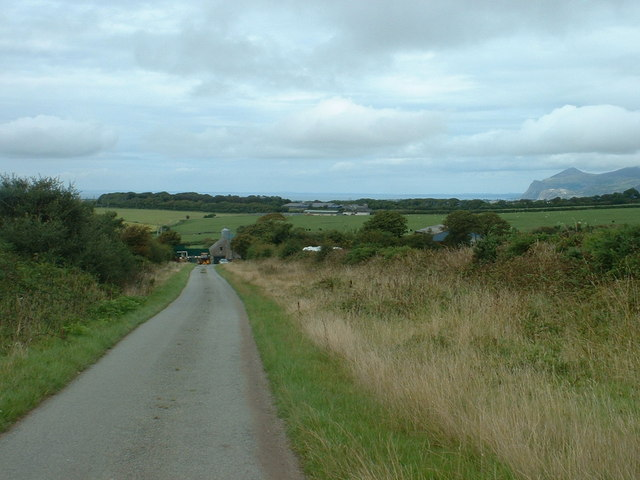 The road to Pwllgoed farm