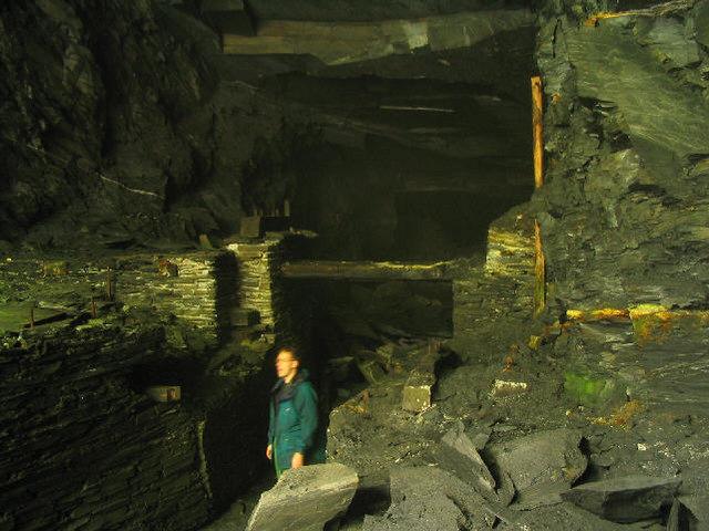 Inside slate cavern