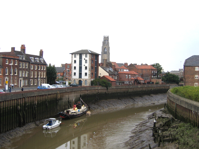 The Haven at low tide, Boston, Lincs
