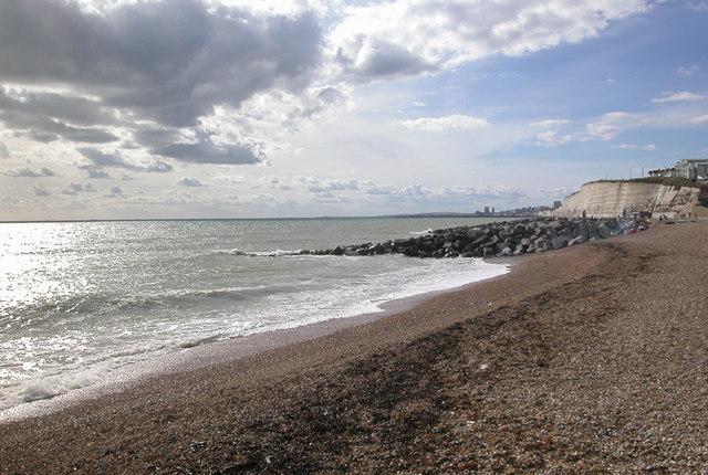 Rottingdean Beach - Westwards