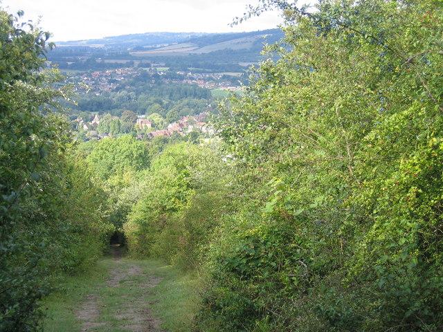 North Downs Way above Otford