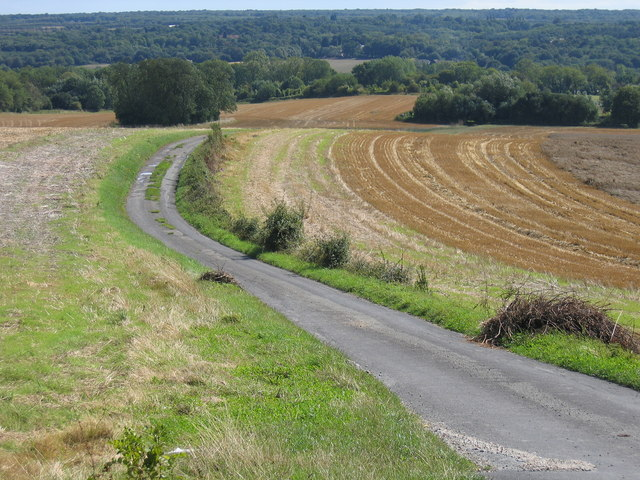 Little used road with Weald beyond