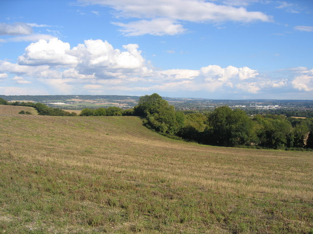 Fields with Maidstone in the distance