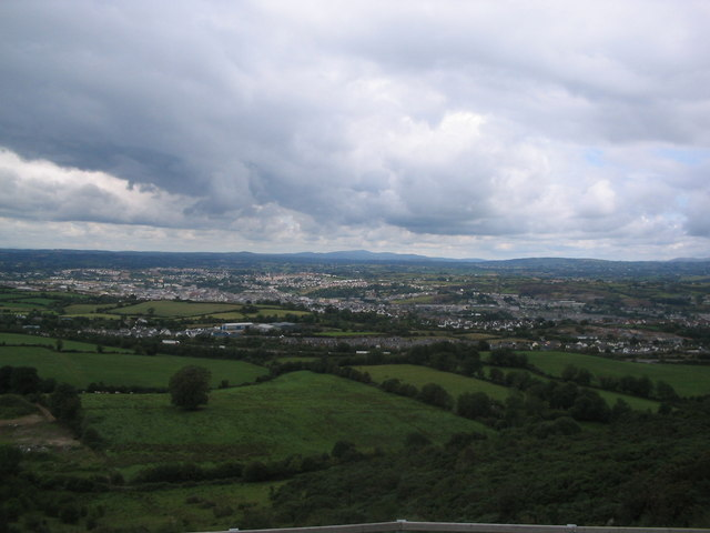 Mourne Mountains from inside the ring of gullion.