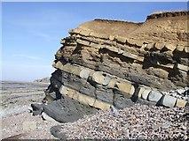 ST1444 : Kilve Beach Rock Formation by Rob Farrow