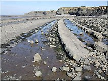 ST1444 : Kilve Beach by Rob Farrow