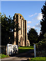 SK0639 : West Front of Croxden Abbey by Linda Bailey
