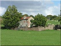 SE0950 : Semi-derelict farmhouse NNE of Nesfield by Clare Smith