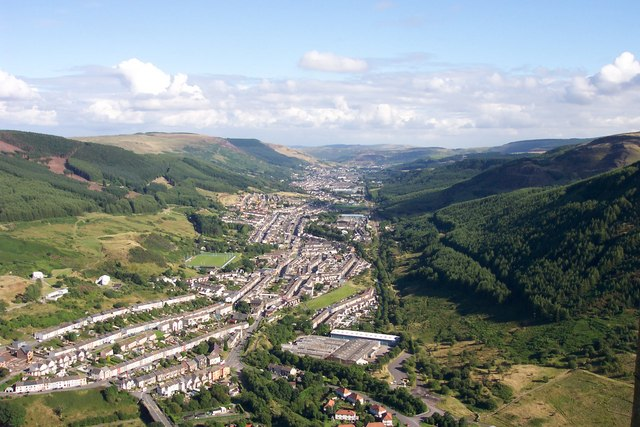 View from the head of the Rhondda