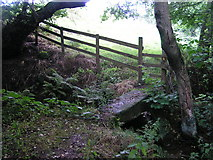 SK0540 : Clapper bridge, Bradley in the Moors by Dave Dunford