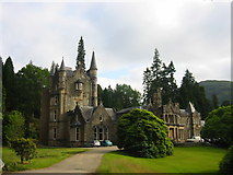 NS1385 : Benmore Lodge by Donald Thomas