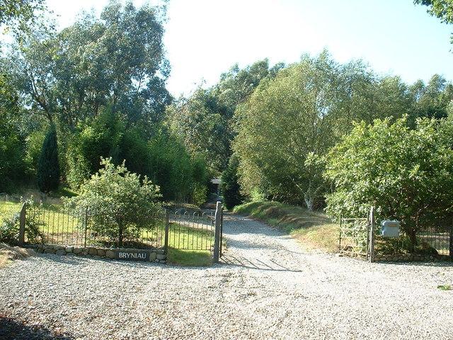 The driveway to Bryniau