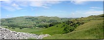 SD8065 : Giggleswick Scar Ribble valley side by William Bartlett