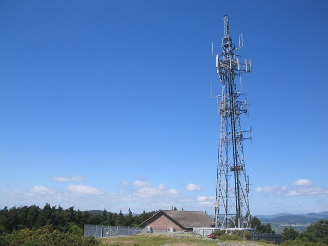 Television Transmitter Mast - Drinahilly Mountain