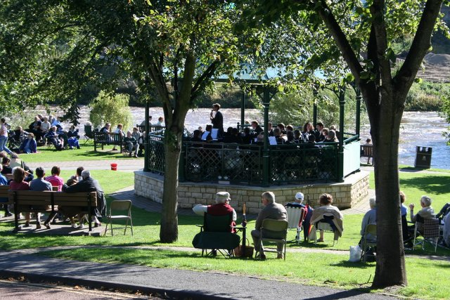 Brass Band on Bandstand, Wetherby