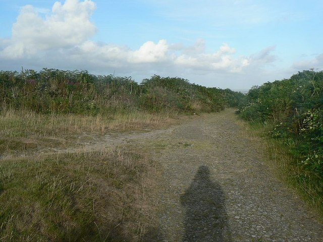 Junction of paths, Tregonning Hill