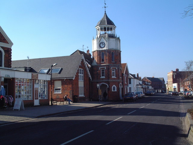 The high street and clock tower.