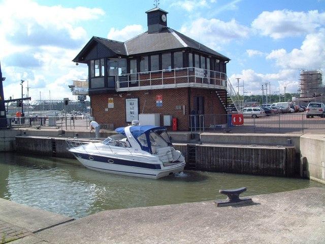 Chatham Maritime Marina Lock