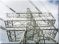 SH5563 : A Monster Pylon at the Stabla Electricity Sub-station by Eric Jones