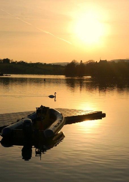 Sunset over Bardowie Loch