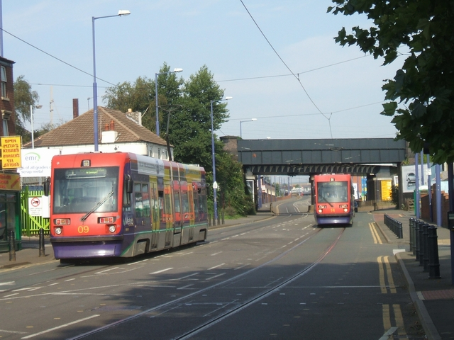 Trams on the Bilston Road