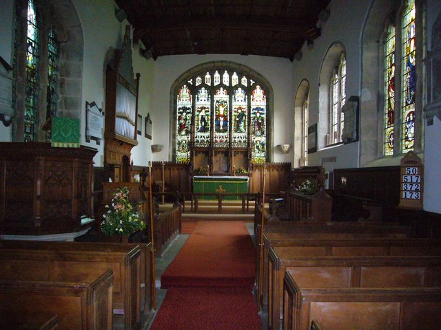 Interior of St.Cuthberts Church Beltingham