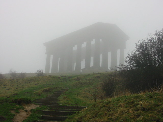 Low cloud over Penshaw Monument