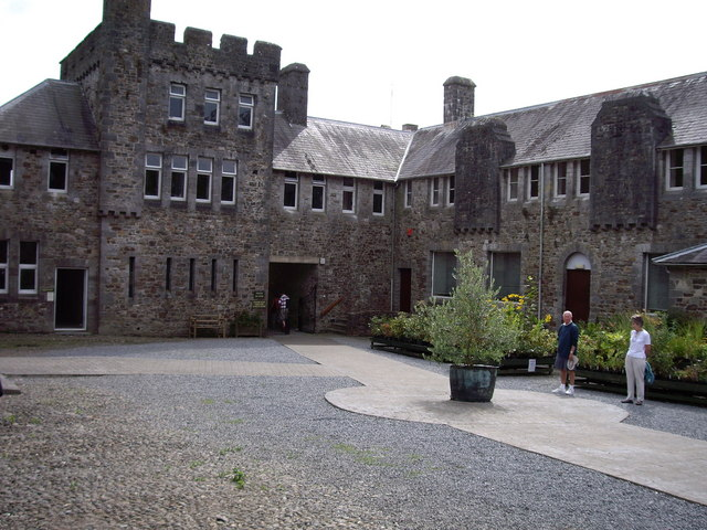 Courtyard of Picton Castle, Pembrokeshire