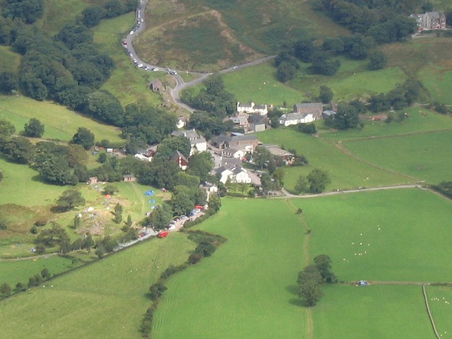 Buttermere village viewed from above