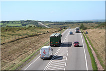 SS8521 : Knowstone: North Devon Link Road by Martin Bodman