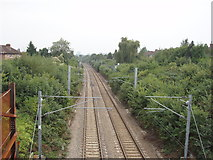 "TQ2081 : North London line, ""London Overground"", at North Acton by David Hawgood"