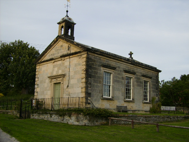 Close up view of Coneysthorpe Chapel