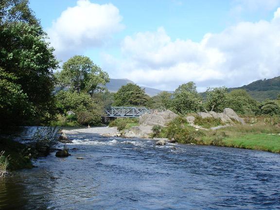 Welsh Highland Railway bridge crossing  the Glaslyn