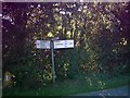TM3271 : Roadsign on the B1117 at Ubbeston by Adrian Cable