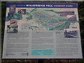 NZ2549 : Sign in car park Waldridge Fell by P Glenwright
