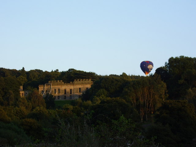 Hot air balloon by Gibside Hall
