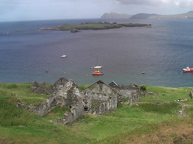 Derelict homes Great Blasket Island