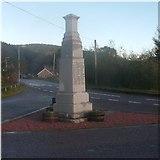 NJ3513 : Bellabeg war memorial by Stanley Howe