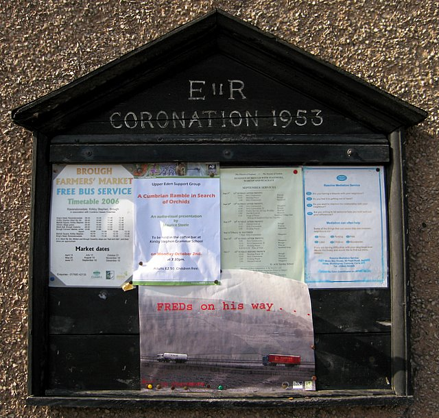 Village notice board, Brough
