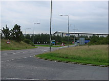 SE5209 : The Nu Tool factory, A1M junction with the A638 at Red House. by Bill Henderson