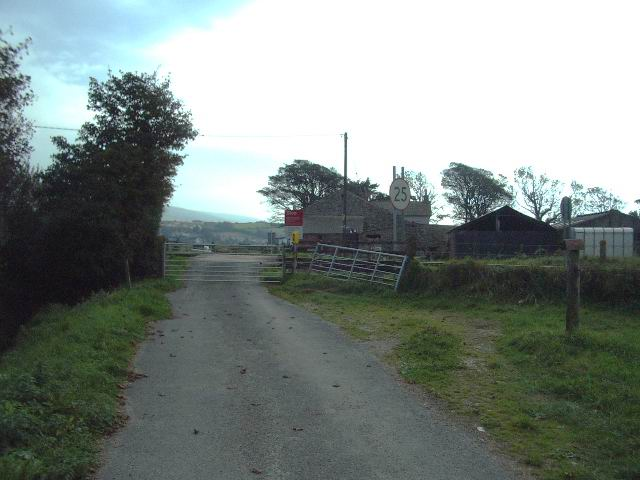 Level crossing at Angerton Hall