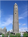 M4000 : The round tower at Kilmacduagh, Co. Galway by Peter Craine