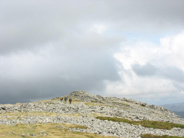 Approaching the Summit Cairn of Craig Cwm Silyn