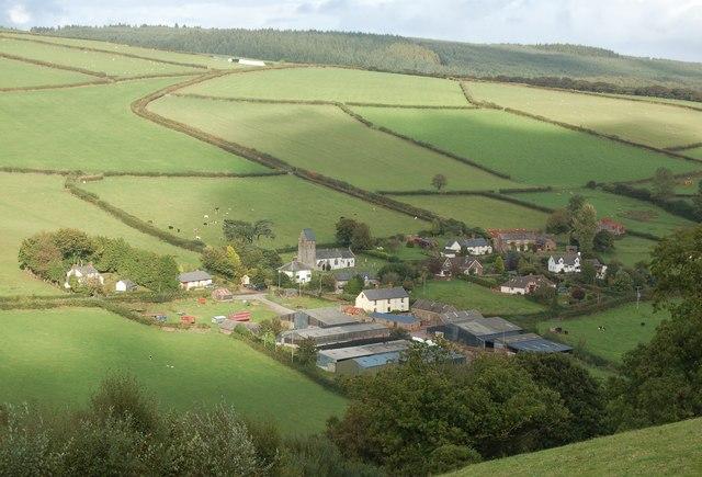 Churchtown viewed from Samaritans Way