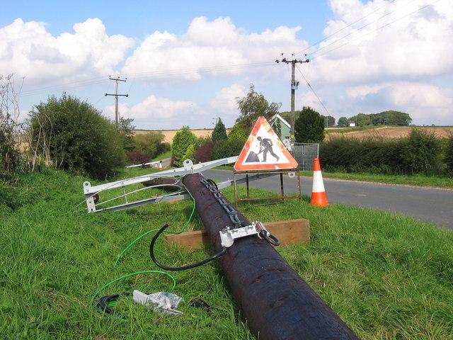 New Telegraph Poles